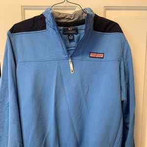 Light blue, Navy Vineyard Vines 1/4 zip sweatshirt